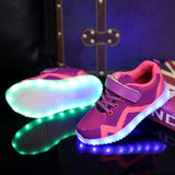 USB Charging Children Sport Boys Sneakers Shoes with Led Light Glowing luminous Sneakers for Girls Casual Led Shoes Kids M01