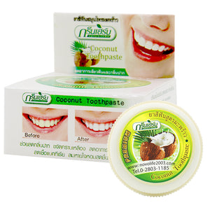 Thailand coconut whitening toothpast Natural toothpaste Strong Formula Tooth Powder remove tooth stains tartar and the oral odor