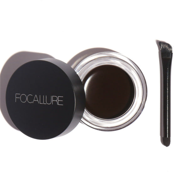 Focallure Eyebrow Pomade Gel Professional 5 Colors Waterproof Durable Eye brow Pomade Eyeshadows Dye Tint  Makeup Enhancer Cream
