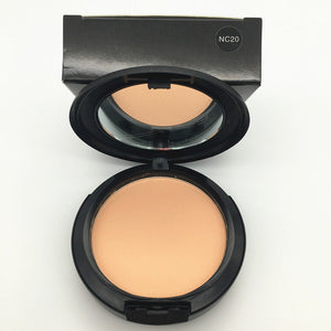 Brand Face Base Pressed Powder Makeup Matte Shimmer Fix Palette Concealer Contour Nude Compact Cosmetics With Puff