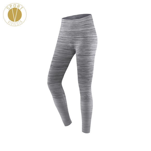 Gradient Seamless Striped Sports Leggings - Women's Yoga Running Active Soft Smooth Compression Slimming High Rise Tights Pants