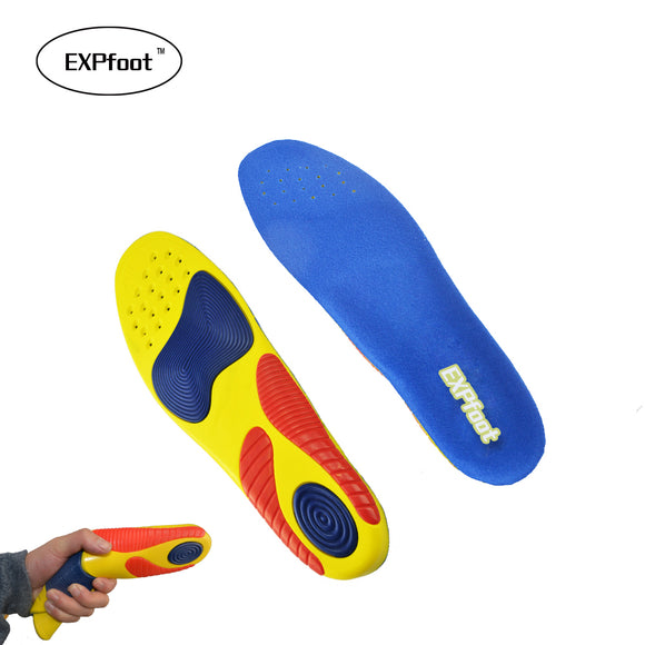 EXPFoot  Silicone Sport Insoles shock absorption pads sport shoes inserts breathable insoles foot healthy foot  care 38-47 size