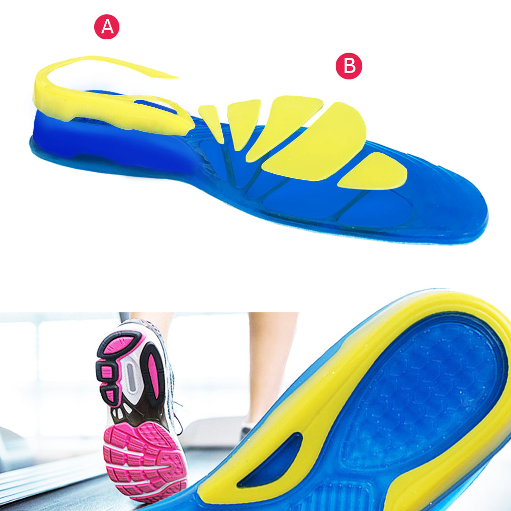 a9473d1705 ... Silicon Gel Insoles Foot Care for Plantar Fasciitis Heel Spur Running  Sport Insoles Shock Absorption Pads ...