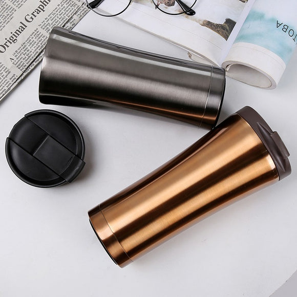 500ml Hot Quality Double Wall Stainless Steel Vacuum Flasks Car Thermo Cup Coffee Tea Travel Mug Thermol Bottle Thermocup
