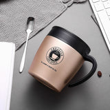 Keelorn 500ML Thermos Mug Coffee Cup with Lid Thermocup Seal Stainless Steel vacuum flasks Thermo mug for Car Water Bottles