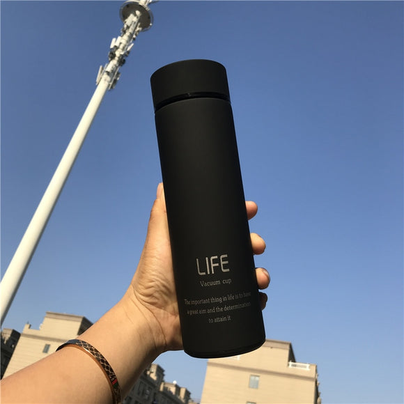 Insulate Thermos tea mug with Strainer Thermo mug Thermos Coffee cup Stainles steel thermal bottle Vacuum flask with lid ST086