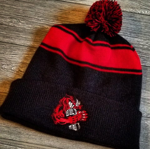 BEANIE (BLACK/RED)