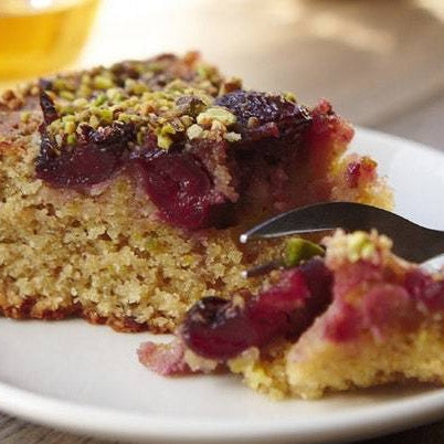 Plum pistachio cake slice - Wednesday 12th May