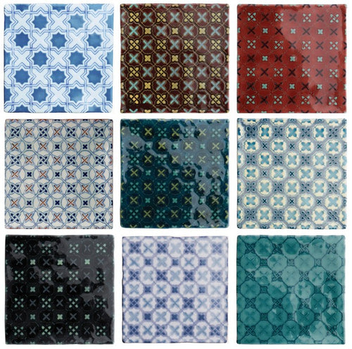 Glazed Patterned Ceramic Tiles