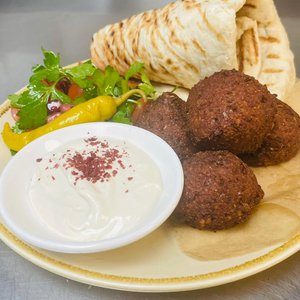 Falafel, salad, flat bread & tahini box - Wednesday 14th April