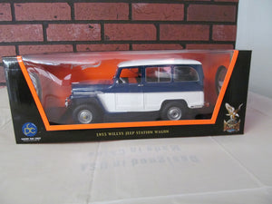 Road Signature 1955 Willys Jeep Station Wagon 1/18th Scale Die Cast