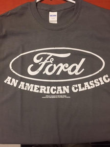 "Ford ""An American Classic"" Gray Tee Shirt"