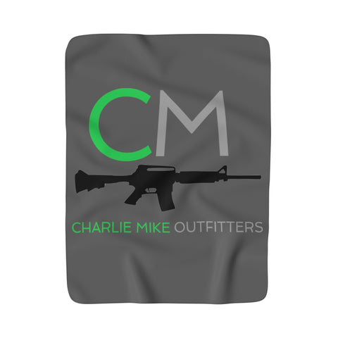 CM Logo Sherpa Fleece Blanket - Charlie Mike Outfitters