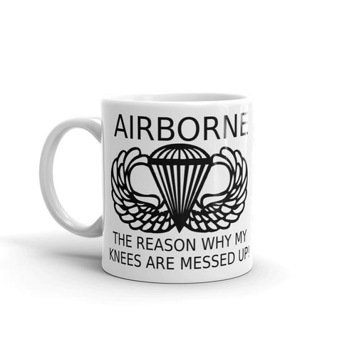CM Airborne Knees Coffee Mug - Charlie Mike Outfitters
