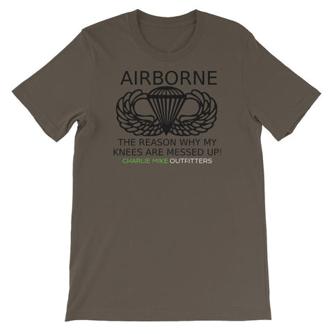 CM Airborne Knees Men's S/S Tee - Charlie Mike Outfitters