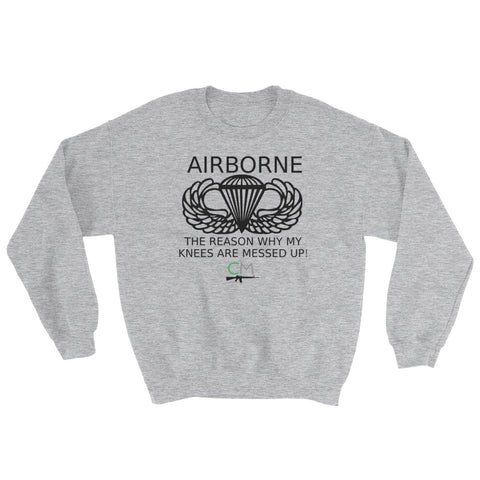 CM Airborne Knees Men's Sweatshirt - Charlie Mike Outfitters