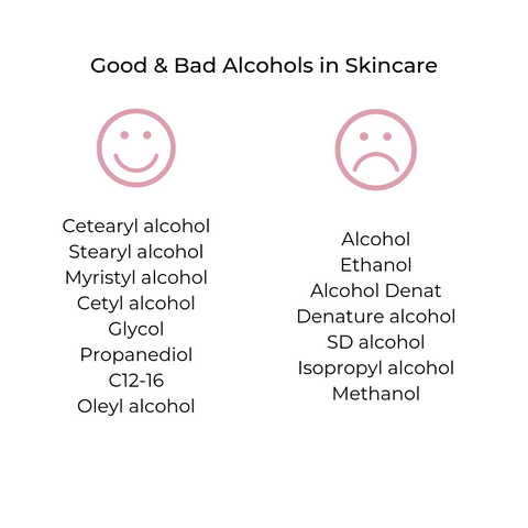 alcoholics in skincare