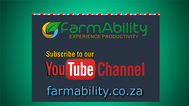 We Have A YouTube Channel    |    farmability.co.za