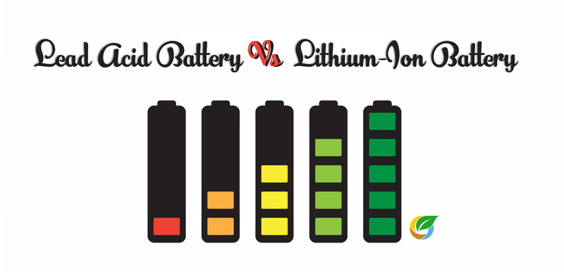 Which Solar Battery Has Bigger Storage Capacity Between Lead Acid Battery & Lithium- Ion Battery?