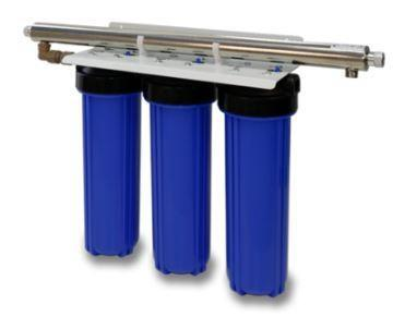 Big Blue 3-Stage Filtration with added UV-Light - CBB-4N. For sale at Farmability