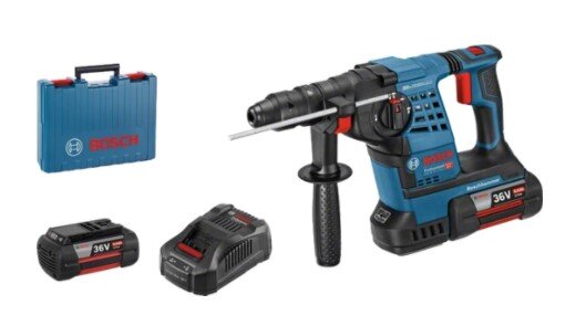 Bosch Heavy-Duty Rotary Hammer with Batteries and Case - 36V 3.2J Farmability