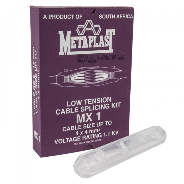 Metaplast low tension cable splicing kit. For sale at FarmAbility South Africa