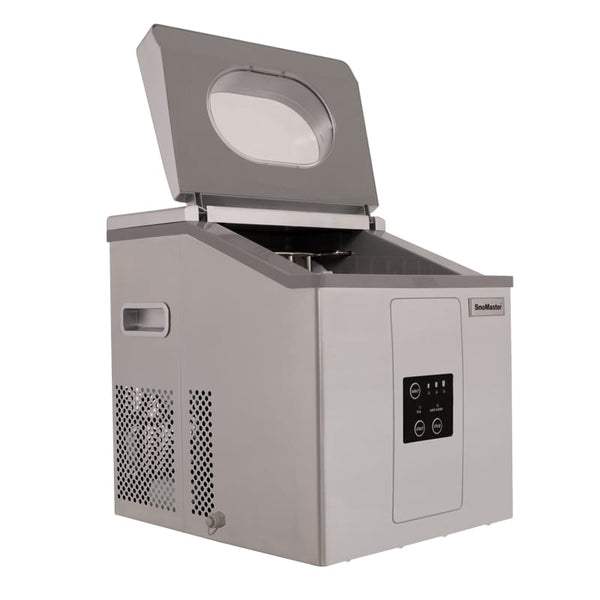 SnoMaster 15kg Portable Ice Maker – Stainless Steel (ZBC-15). For sale at FarmAbility South Africa