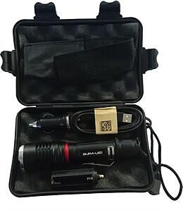 Supa-LED Rechargeable Torch with Charger and Battery. For sale at Farmability