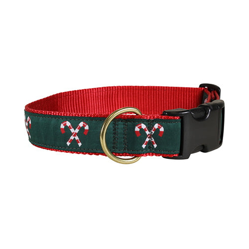 "Candy Canes 1.25"" Dog Collar"