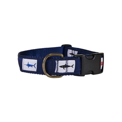 "Fish Flags 1.25"" Dog Collar"