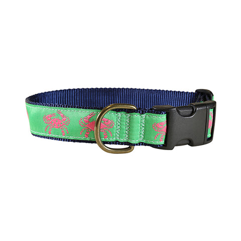 "Pink Crab 1.25"" Dog Collar"