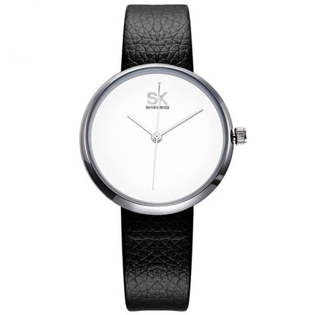 Ambrosial Sk Causal Leather Quartz - Everyday Wear Clock Wristwatch for Women - Ritzy Jewelry