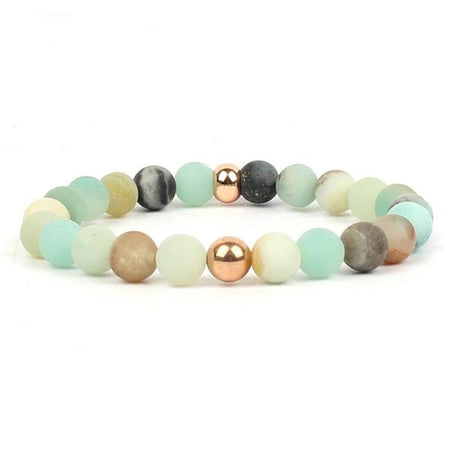 Appealing Chakra Natural Stone Bracelet - Mala Amazonite Beads Energy Bracelets for Women - Ritzy Jewelry
