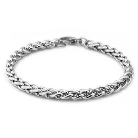 Daring Masculine Stainless Steel Silver Link Chain Bracelets for Men's by Ritzy - Ritzy Jewelry