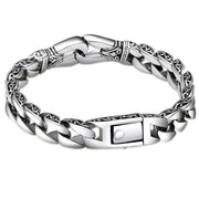 Forcible Stainless Steel Bracelet - Curved Edging Curb Chain Wristband for Mens - Ritzy Jewelry