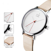 Embellished Creative Leather Fashion Quartz Watch for Women by Ritzy - Ritzy Jewelry