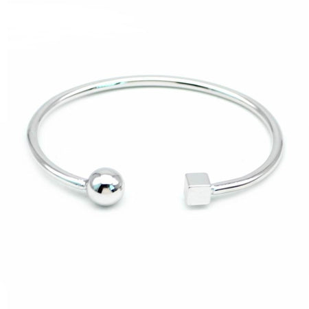 Loyal Circle Bracelet - Open Rock Square Bangle Bracelet for Women - Ritzy Jewelry