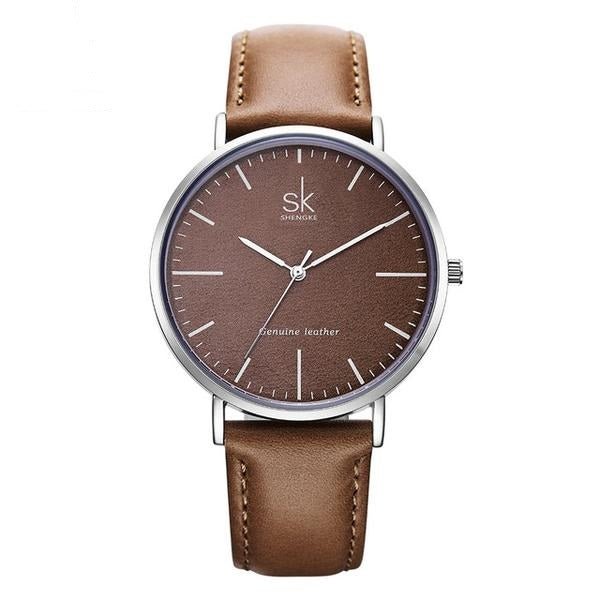 First-Rate Leather Sk Watch - Luxury Brand Quartz Watch for Women - Ritzy Jewelry