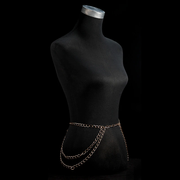 Forsaken Belly Chain - Flattering Waist Oath Body Chain for Women - Ritzy Jewelry