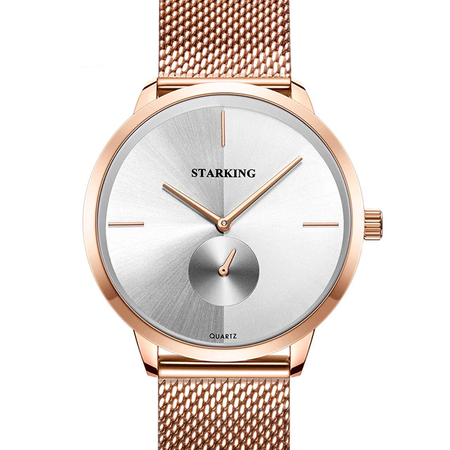 Luxurious Starking Quartz Watch - Rose Gold Stainless Steel Luxury Causal Ladies Clock Wristwatch for Women - Ritzy Jewelry