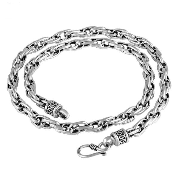 Hunky Vintage 925 Sterling Silver Twist Link Chain Necklace for Men's by Ritzy - Ritzy Jewelry