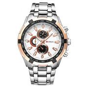 Champion Curren Quartz Watch - Gentleman Luxury Stainless Steel Casual Watch for Mens - Ritzy Jewelry