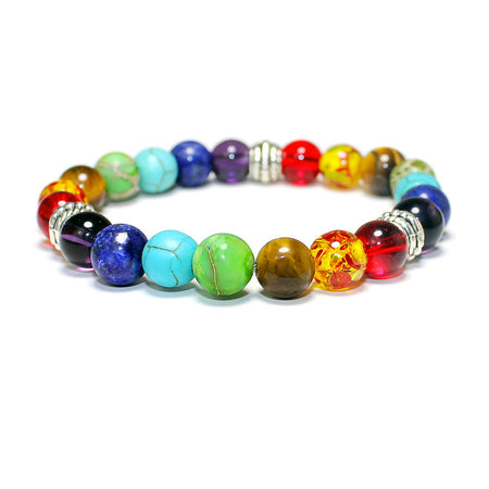 Utopia Chakra Stone Beads Rainbow Bracelets for Women by Ritzy - Ritzy Jewelry