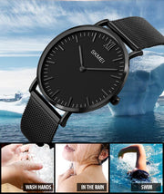 Refined Ultra Thin Stainless Steel Quartz Fashion Watch for Men's by Ritzy - Ritzy Jewelry