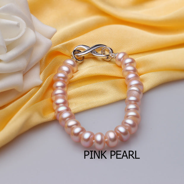 Charming 925 Sterling Silver Natural Pearls Charm Bracelets for Women - Ritzy Jewelry