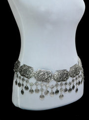 Infinite Vintage Silver Gypsy Vision Carving Tassel Flower Belly Chain for Women by Ritzy - Ritzy Jewelry