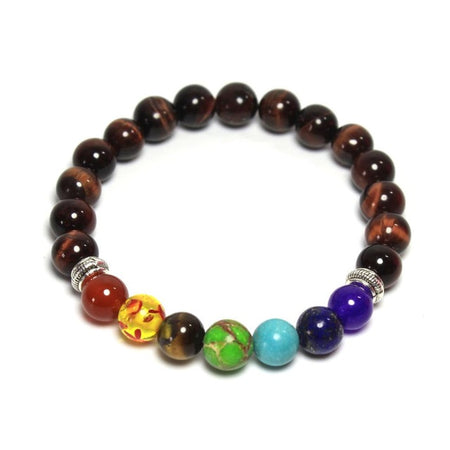 Silken Chakra Bracelet - Black Natural Healing Stone Beads Bracelets for Women - Ritzy Jewelry