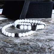 Amazing Natural Bead Bracelet - Natural Crown Charm Bracelets for Mens - Ritzy Jewelry