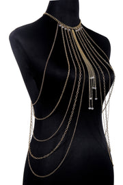 Seductive Gold Harness Body Belly Chain for Women by Ritzy - Ritzy Jewelry