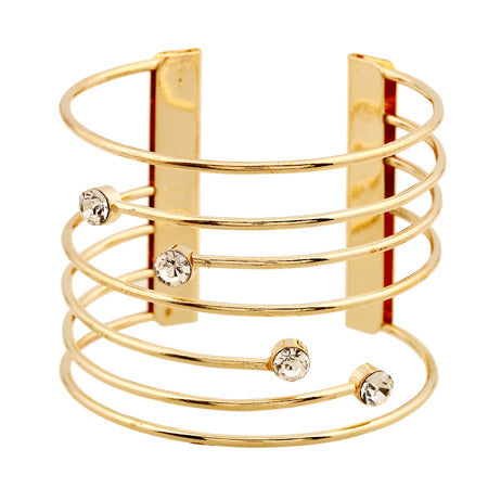 Luminous Wide Cuff Bracelet - Gold Silver Punk Bangles Bracelet for Women - Ritzy Jewelry